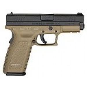 """Springfield XD .45 ACP 10+1 4"""" Pistol in Black Slide/Dark Earth Frame - XD9161SPO6"""