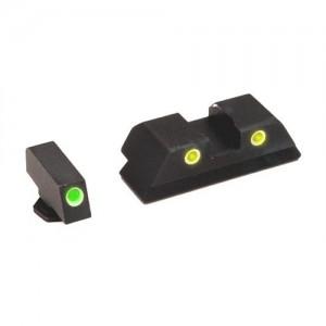 Ameriglo Green Front/Yellow Rear Classic Tritium Night Sights For Glock 45/10MM GL121