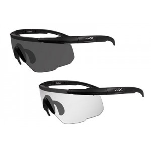 Wileyx Eyewear Saber Advanced Changeable Outdoor Safety Glasses Smoke/Clear 307