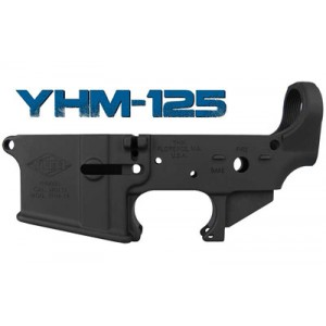 Yankee Hill Machine Co Stripped Lower Receiver, Semi-automatic, 223 Rem/ 556 Nato, Matte Black, Made From 7075-t6 Forged Aluminum Yhm-125